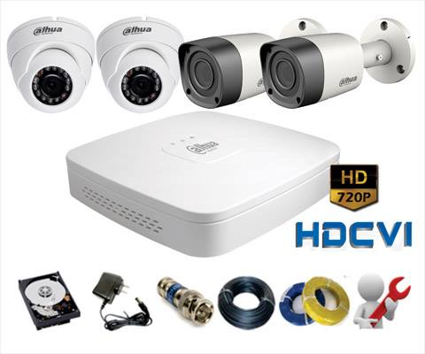 TRỌN BỘ KÍT CAMERA HD DAHUA 1-2-3-4 Camera