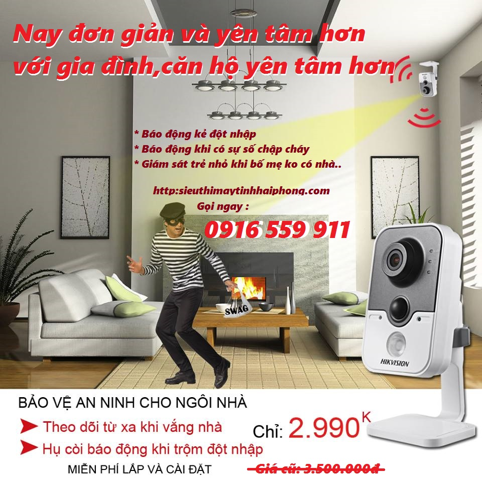 TRỌN BỘ KÍT CAMERA HD HIKVISION 1-2-3-4 Camera